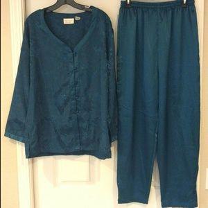 Vintage Victorias Secret 2Pc Pajama Set Gold Label